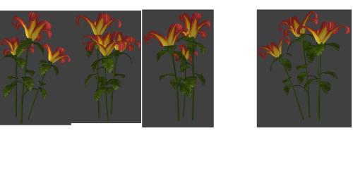 Lily model in game before color correction